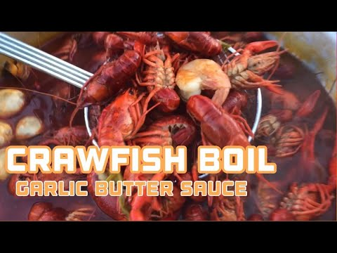 Crawfish Boil With Garlic Butter Sauce (Our 1st Adventure)