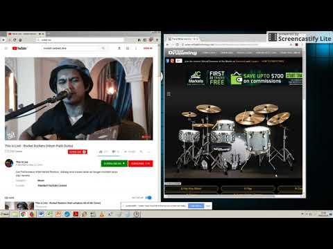 Rocket Rockers HItam Putih Dunia (Virtual Drum Cover)