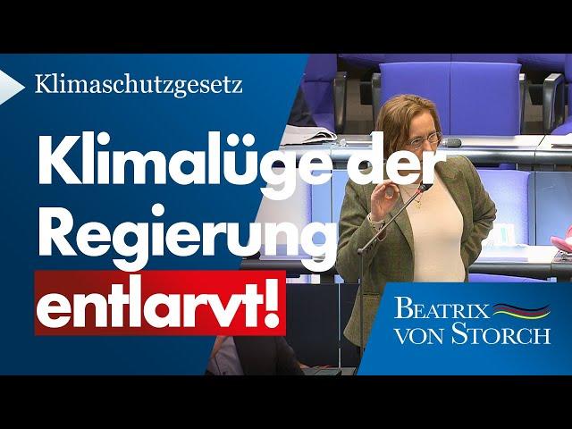 Beatrix von Storch (AfD) - Klimalüge der Regierung entlarvt!
