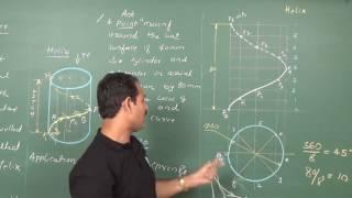Engineering Drawing (helix of cyclinder 2) FE Semester - II by Prof. Ramu Aital | edumateengg.com
