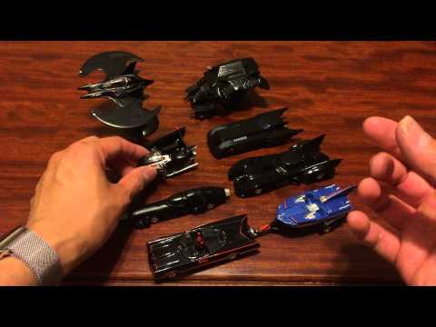 Hot Wheels Batman Collection Batmobile and Batwing Diecast 1/50 Series