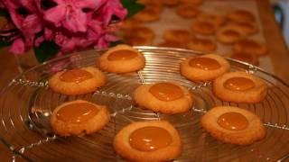 Caramel Thumbprint Cookies: Cookie Jar #47