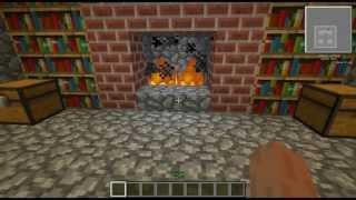Секретный проход в камине (механизмы в minecraft)