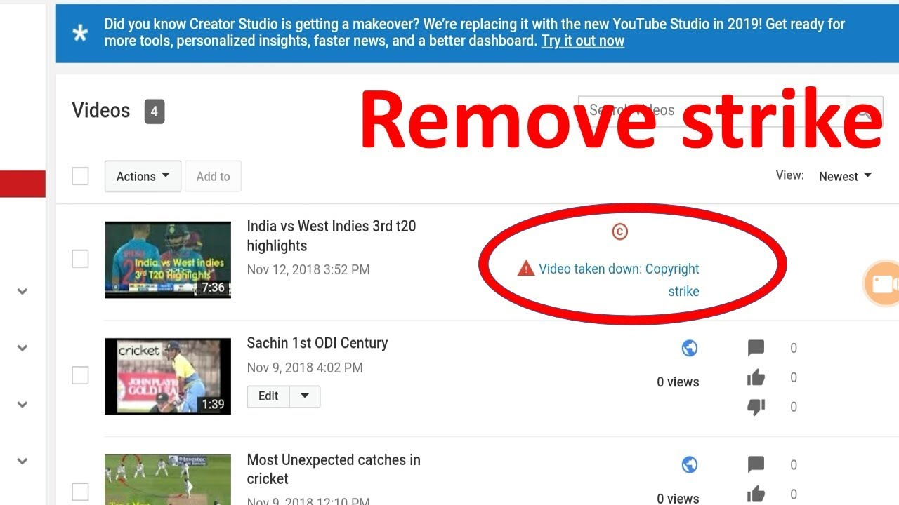 How to remove copyright strike from your youtube channel 2018