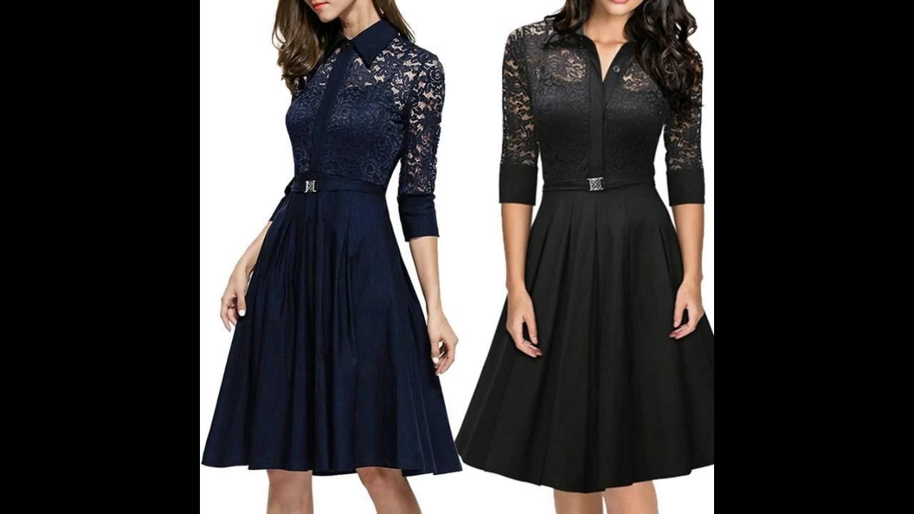 GorgebridaL Lace Vintage 50s Dress Women Elegant Lady