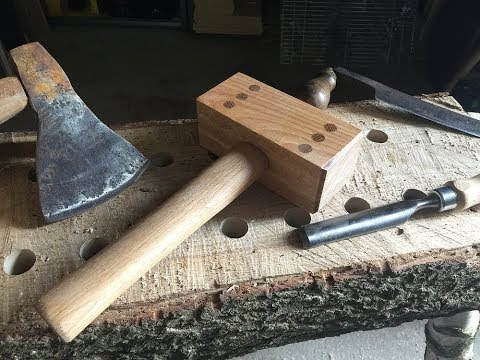 Making a simple strong wooden mallet