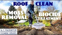 Roof Clean Moss Removal And Biocide Treatment