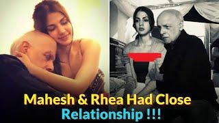 Sushant's Girlfriend Rhea Chakraborty and Mahesh Bhatt Secret Relationship Expose | Mahesh & Rhea