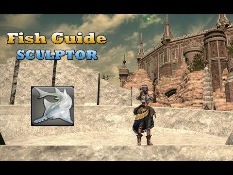 Final fantasy XIV Stormblood - Fishing ultra rare fish SCULPTOR
