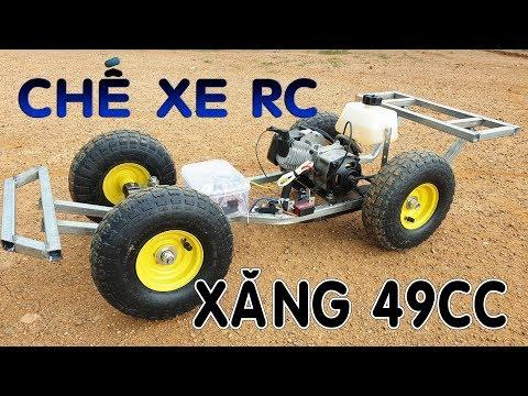Hướng Dẫn Chế Xe Điều Khiển Với Động Cơ Xăng 49cc