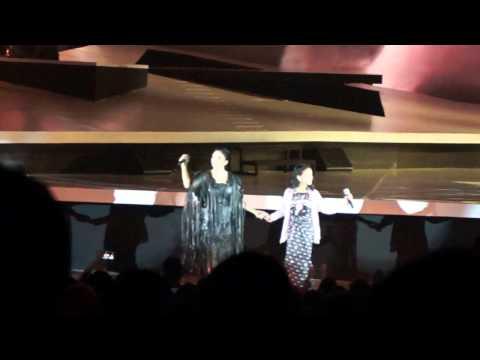 KD, Lyodra, Nada & Shaquilla performing