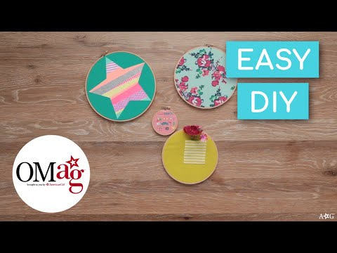 How to Make Wall Art with Recycled T-Shirts! | OMaG | American Girl