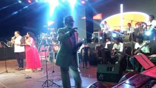 """Surmukhi & SPB Sung """"Valaiyosai kalakalavena """" in Jaffna Concert By SPB& Gangai Amaran"""