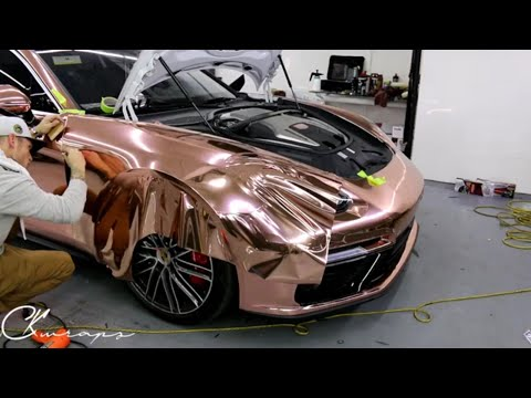 How To Vinyl Wrap A Very Curved Panel In Chrome Rose Gold Super Descriptive! By @ckwraps