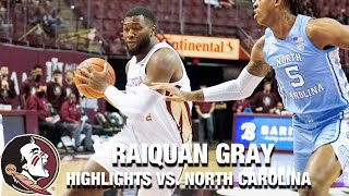 FSU's RaiQuan Gray Scores Career-High 19 Points In Win Over UNC
