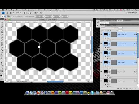 How to Create a HoneyComb Pattern in photoshop