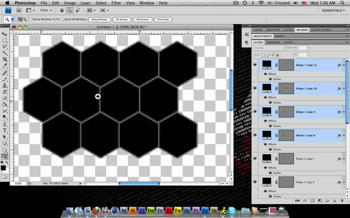 how to create a honeycomb pattern in photoshop youtube. Black Bedroom Furniture Sets. Home Design Ideas