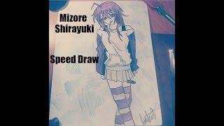 (Speed Draw)Mizore Shirayuki (Yuki) RosarioxVampire