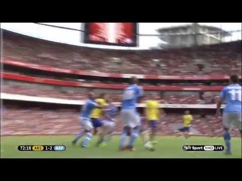 海外サッカーコーナーキックから直接オーバーヘッドで叩き込むスーパーゴール Brilliant Overhead Kick From Corner Kick