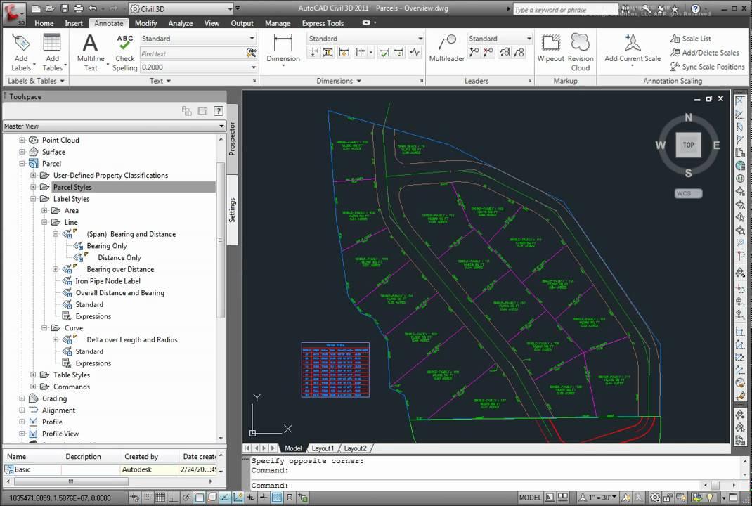 About parcel styles in AutoCAD Civil 3D 2011