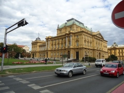 Driving Around Zagreb, Croatia