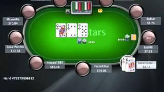 Раздача дня на PokerStarter: Самый старший флэш с флопа.