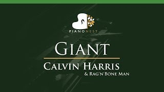 Baixar Calvin Harris, Rag'n'Bone Man - Giant - LOWER Key (Piano Karaoke / Sing Along)