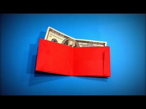 Origami Wallet | How to Make a Paper Wallet for Money DIY - Easy Origami Step by Step