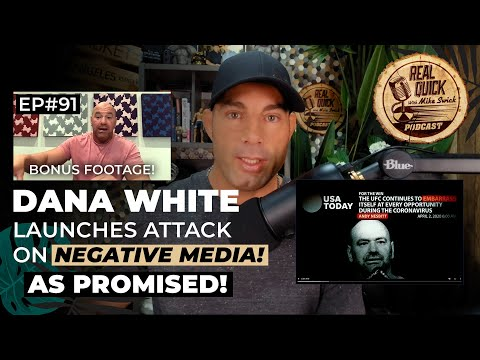 Dana White Launches Attack on Negative Media as Promised! (Bonus Footage Of Dana In October Leading To This)