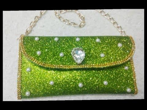 How to make glitter foam sheet money purse/diy purse with glitter sheet.