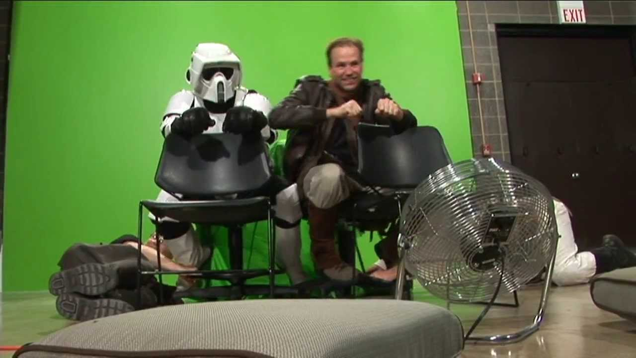 Greenscreen Speederbike Evolution Star Wars Fan Film Documentary Youtube