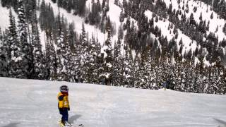 parker jax skiing and it s caught on top on the top of bald mountain sun valley resort idaho 3
