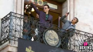 CANELO AND CHAVEZ JR INTRODUCED TO FANS AND FACE OFF ON BALCONY