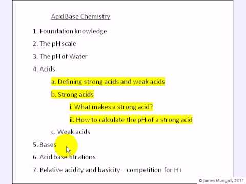 studying the ph of strong acid More free chemistry help videos: here i show how to calculate the ph of a solution made with a strong aci.