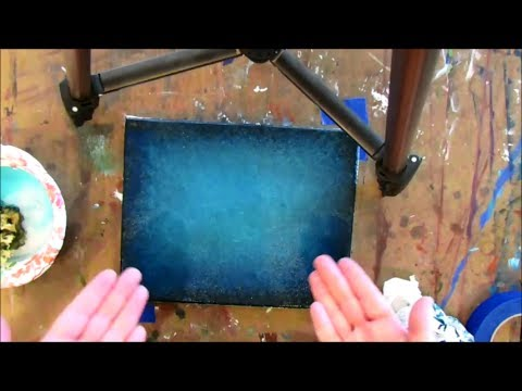 How to paint a DARK turquoise background