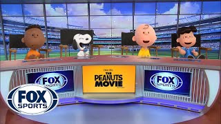 The Peanuts take over the FOX Sports set