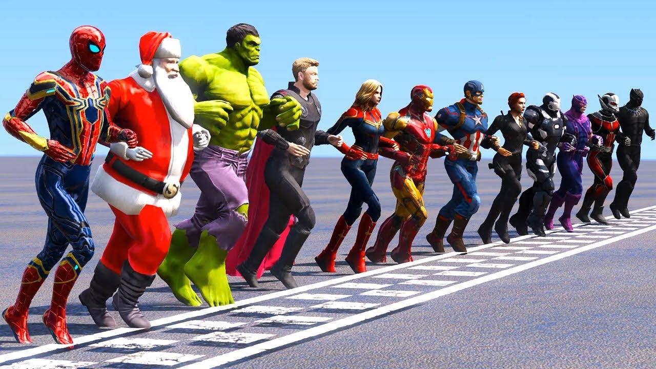 Download Tous les super-héros Défi de course Iron Spider, Black Panther, Iron Man, Hulk, Captain Marvel GTA 5