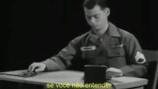 Repeat youtube video Aula de telegrafia do Exército Americano de 1966 1/2