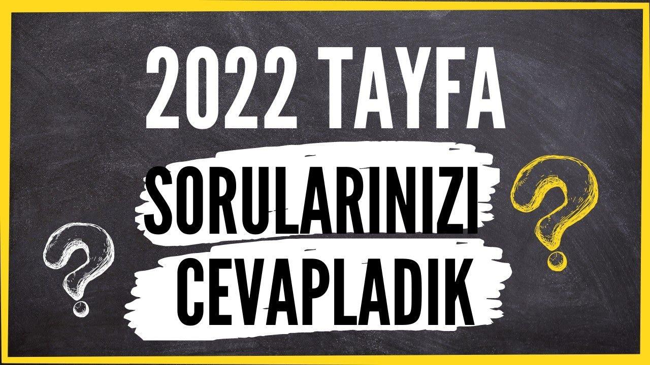 2022 Tayfa Sizden Gelen Soruları Cevapladık #yks #2022tayfa