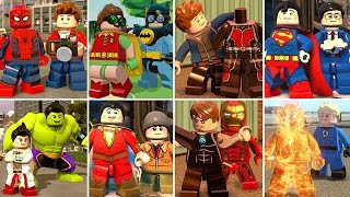 All Superhero Suit Up Transformations in LEGO Videogames