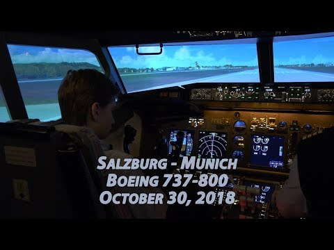 Salzburg - Munich. Boeing 737-800. Полет Зальцбург - Мюнхен. 4K UHD. Radodar TV. October 30, 2018