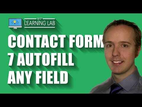 Contact Form 7 Autofill Form Fields For Your Visitors - YouTube