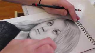 Drawing Luna Lovegood/Evanna Lynch from Harry Potter