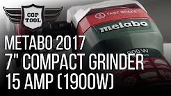 "Metabo 7"" Compact Grinder 15 Amp (1900w) Rat Tail WEPB 19-180 RT - Best Power/Weight Ratio Ever"
