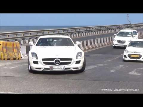 Mercedes-Benz SLS AMG Cruising in Mumbai, INDIA.