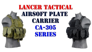 Lancer Tactical CA-305 Series Airsoft Plate Carrier Overview