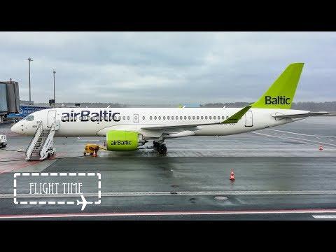 FLIGHT REPORT | Air Baltic | Airbus A220-300 | Riga to Tallinn | Economy