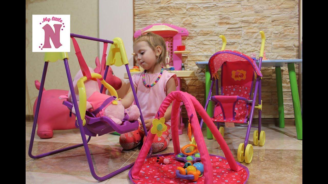 Игровой набор Свинка Пеппа коляска качелька коврик сумка распаковка Peppa Pig toys unboxing