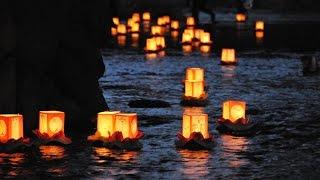鴨々川 灯篭流し 2016年8月15日