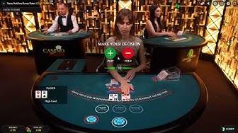 99€ Live Casino Texas Hold' em Bonus Poker